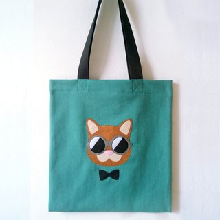 Smart Cat, Tote bag - handmade