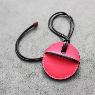 KAKU handmade leather gogoro key leather pink