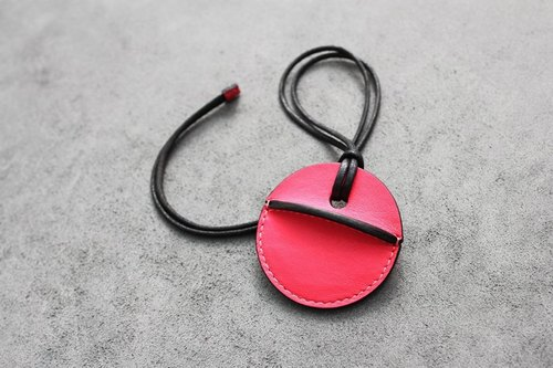 KAKU hand leather goods gogoro key leather case pink