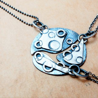 Sterling Silver Puzzle Necklace Co-Round (Three Purchases 3540 Yuan) Free Lettering