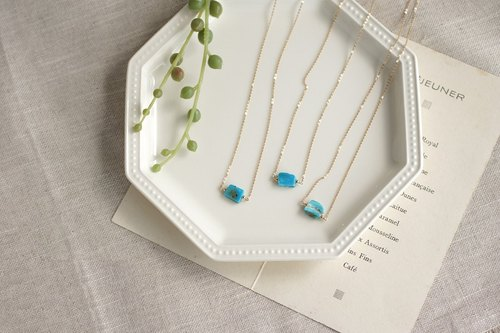 14kgf-Blue Opal necklace