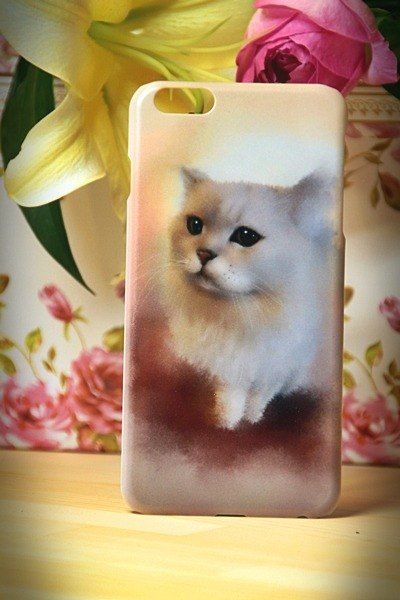 Watercolor cat s013 you looking at me? David Videos Cat iPhone (i5.i6s, i6splus.I7.I7plus) / Android Samsung Samsung, HTC, Sony designer handsets shell / protective cover / kitty cat phone shell