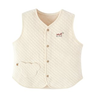[SISSO organic cotton] sunshine air cotton double-sided vest (stripes)