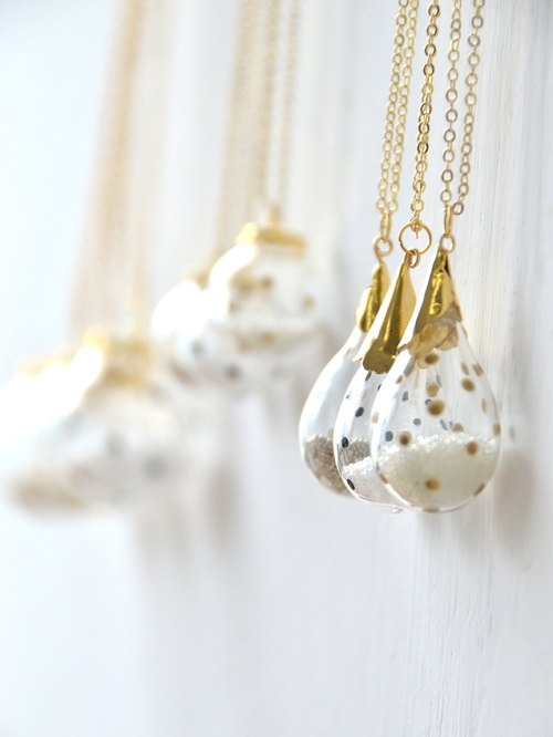GOCCIA - Drop shape Polka dot bubble necklace