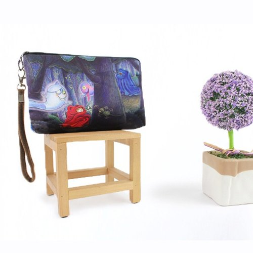 Boing cosmetic bag – The red ghost and the blue ghost in the woods AO-1607-4D