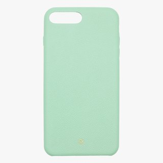 Customized Multicolor Leather Lambskin Series Macaron Dream Color Powder Green iPhone Case