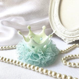 Bright bright lace crown / lake green