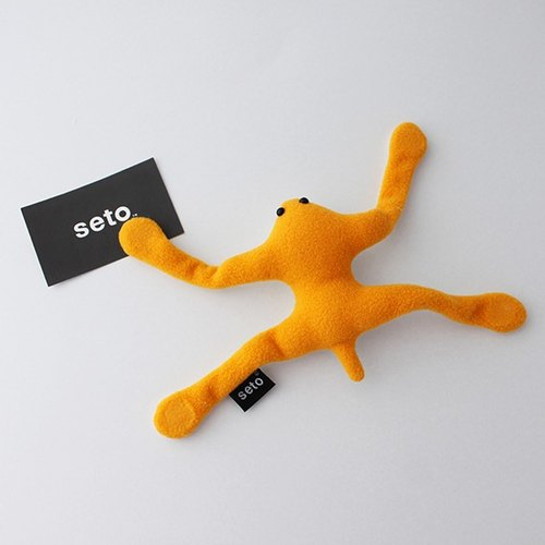 Gecko plush magnet yellow