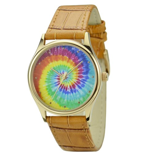 Tie Dye Pattern Watch Unisex Free shipping worldwide
