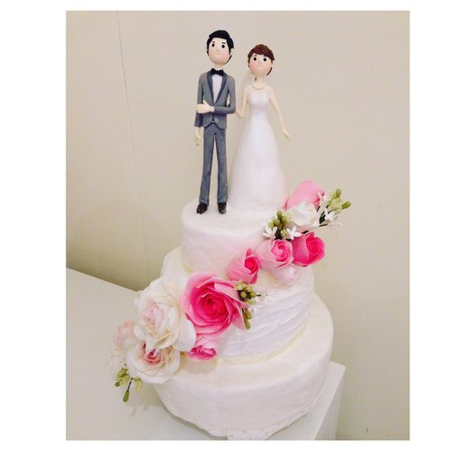 Clay custom wedding cake - Customized