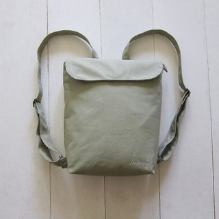 Canvas Backpack- Small (Zipper Closure / External Zipper Pocket)