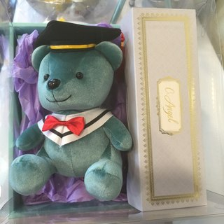 "Bear good luck graduation bear gift box group ""to the most special of your graduation gift"" lucky biscuits bear custom cake"
