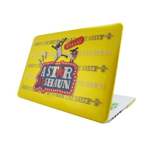"Smiled sheep genuine authority (Shaun The Sheep) -Macbook crystal shell: [] Super star (yellow) ""Macbook Pro 15.4 inch special"""