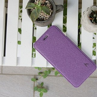 Optima iPhone 8/7 Plus side stand type protective shell linen grape purple