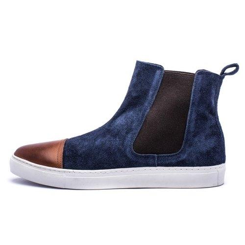 ARGIS Japanese suede slippery casual erxi boots  22134 Navy - Japanese  handmade - Designer ARGIS Japan Handmade Leather Shoes  c3298fb2a08