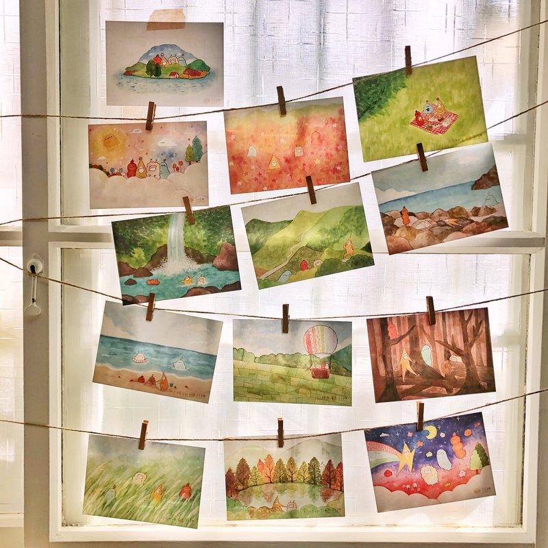 我心中的台灣風景-黃蕉星 桌曆同款 明信片