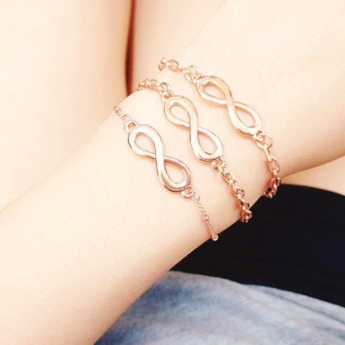 LIULIUYA [Unlimited] rose gold bracelet color retention