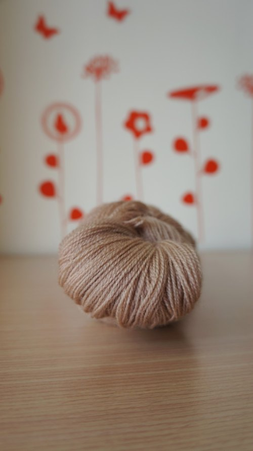 Hand-stitched lace thread. BFL / Silk