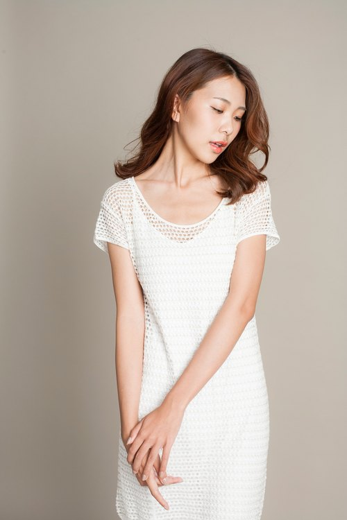 【Original summer】 hollow knitted blouse - long version
