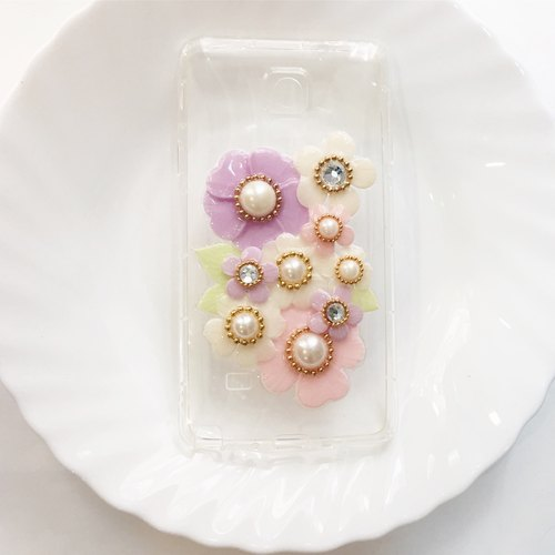 Flower Tattoo Series / iphone mobile phone shell / Android Phone Case / transparent hard shell / Customized