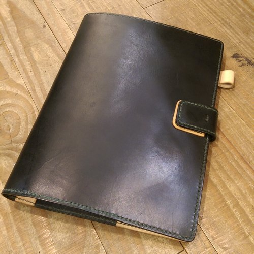 Handmade hand-dyed leather B5 loose-leaf notebook