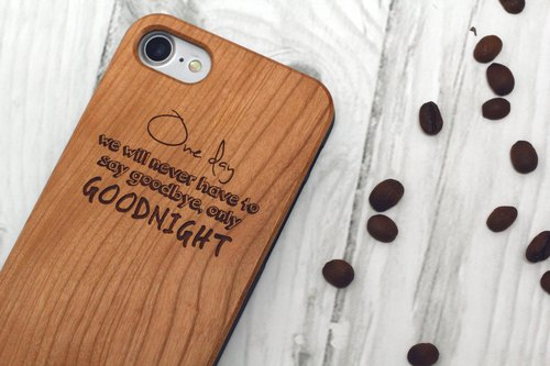 [Warm] gift of choice - wood iPhone mobile phone shell