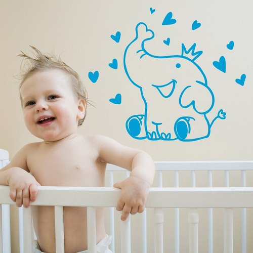 """Smart Design"" Creative Seamless wall stickers ◆ Happy Elephant 8 color options"