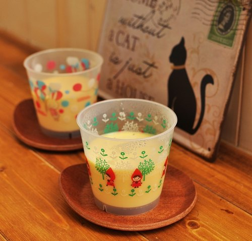 [Dessert] hand sketch Japanese silky pudding (with two Japanese Shinji Kato dessert pudding cups) ◎ loaded into two.