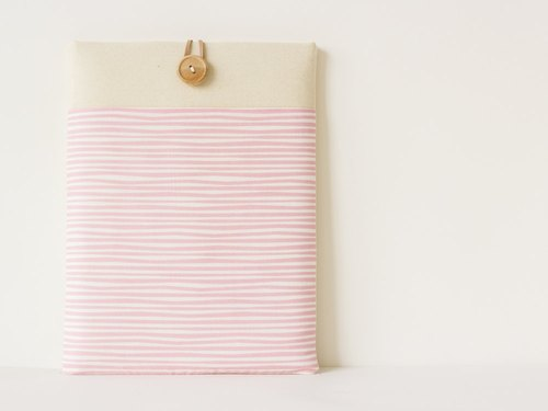 Laptop case Macbook cover PC case / pink stripe