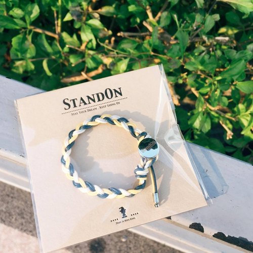 StandOn ▪ 防水經典系列手環 Basic Three Waterproof Bracelet x Pure Yellow