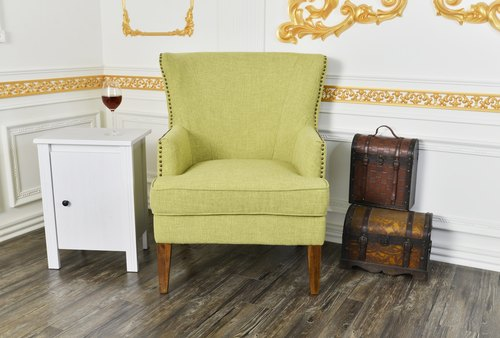 LovCozzie Earl Wendley Single Armrest Wooden Cloth Sofa Chair / Owner Sofa Single Sofa Owner Chair