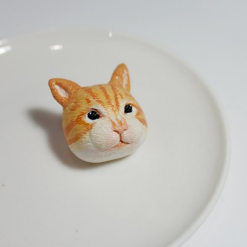 【Good ki daisuki】 orange cat brooch (pin / magnet) | hand | animal | accessories | jewelry |