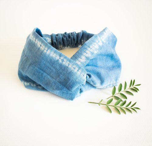 Headband ocean blue tie and dye / hair band / ヘッドバンド