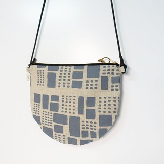 Screen printing crossbody bag field gray