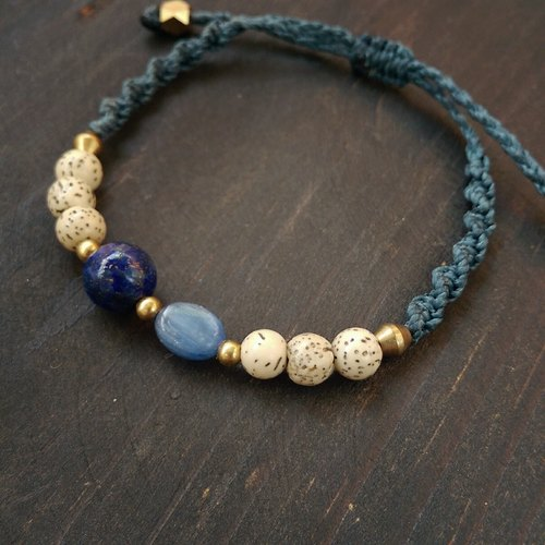 Zazen Creations | natural stone wax rope bracelet South America