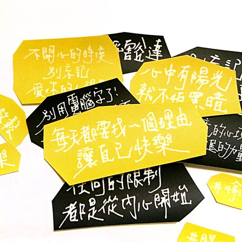 Text happy yellow sticker set