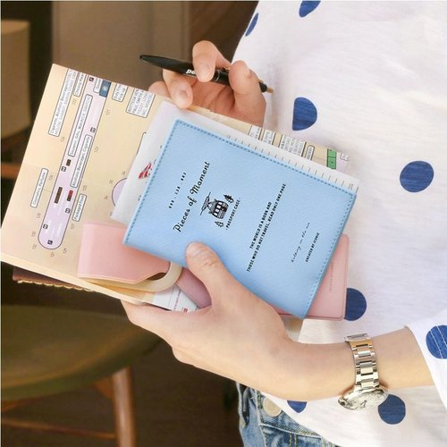 Iconic - Flight Diary Passport Cover - Pink Blue, ICO86857