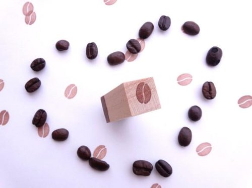 Coffee beans eraser stamp