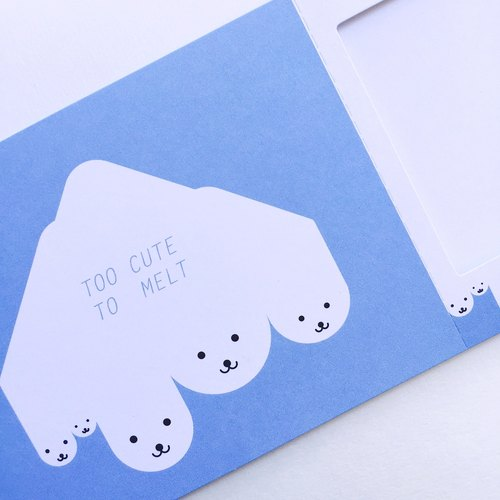 Pin Cards -  Summer / Too cute to melt - Greeting Frame Card