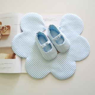 Blue little bit of beauty gift baby shoes + bib