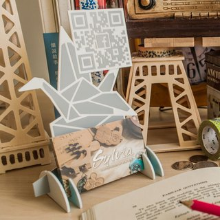 [Open shop small things] QR-CODE small stand paper crane, lion king style stall sign signboard