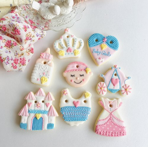 [Warm sun] confectionable confectionery biscuits ❥ Cinderella female baby prince pure hand-drawn creative design gift box 8 groups**Please contact us before ordering**