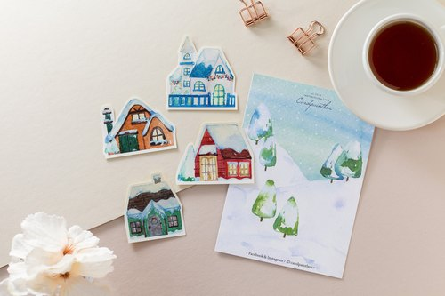 Winter limited / Keluo forest town stickers package (a total of 4)