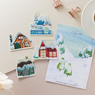 Winter limited / Kai Ruoruo town stickers package (a total of 4)