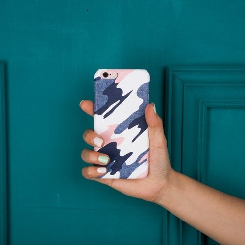 """The little girl exclusive camouflage / camouflage white"" gentle touch han scratch Phone Case [customizable iphone Samsung LG]"