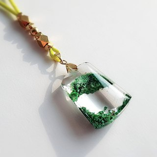 Gemstone ‧ Elves Natural Mineral Green Ghost Crystal ‧ Necklace