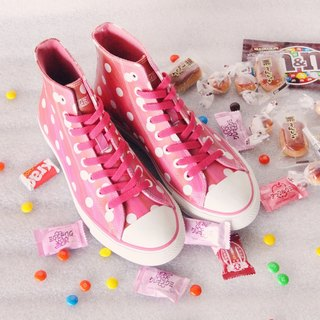 PI-ZERO Cute little sweetheart pink leather classic plus sulfur shoes <left 37# 38# 39#>