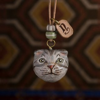 cow paper mache necklace
