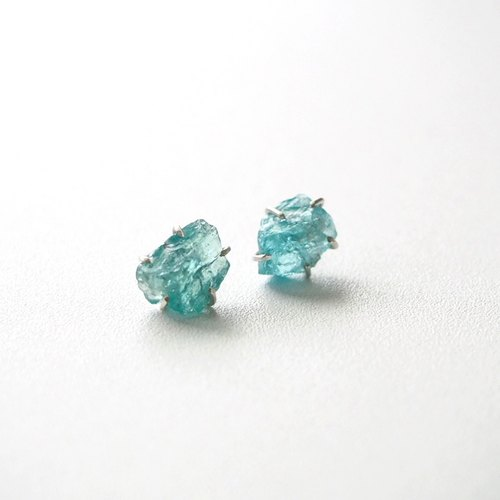 Transparent iceberg - the original apatite elegant handmade sterling silver