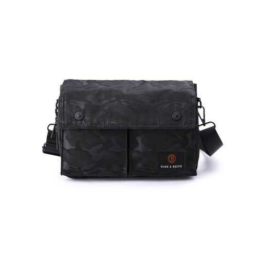 [THE DUDE] Multifunctional Pouch Backpack Bag Saddle Bag Wander - Camo Black